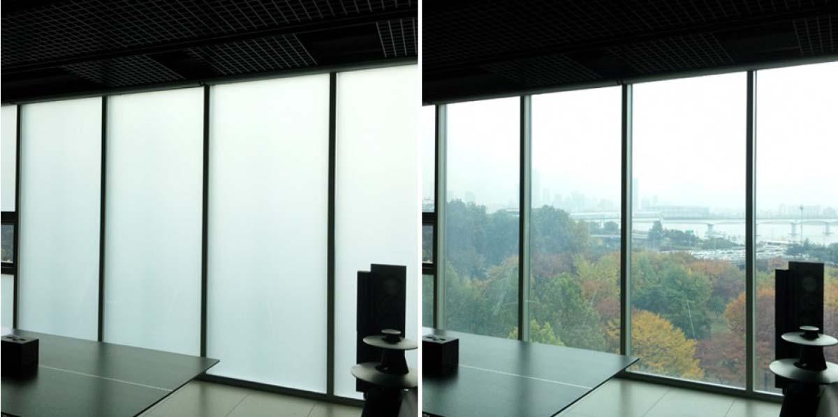 Vidros inteligentes para escritório ou apartamentos áreas privativas